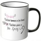 JUNIWORDS Tasse Brave Mädchen kommen in den Himmel, Böse Mädchen gehen zu Mr. Grey - Motiv 7