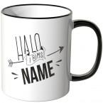 JUNIWORDS personalisierte Tasse Halo I bims *Männername*