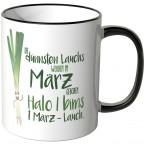 JUNIWORDS Tasse Die dünnsten Lauchs werden im März geboren...