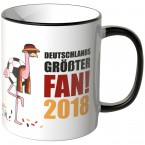 JUNIWORDS Tasse Deutschlands größter Fan! 2018 Flamingo