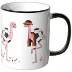 JUNIWORDS Tasse Flamingo Fußballfans Deutschland