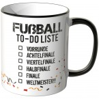 JUNIWORDS Tasse Fußball To-Do Liste