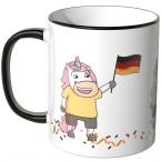 JUNIWORDS Tasse Einhorn Fußballfans Deutschland