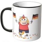 JUNIWORDS Tasse Einhorn Flagge Deutschland
