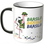 JUNIWORDS Tasse Brasilien Flamingo