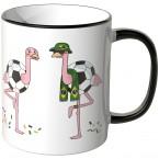 JUNIWORDS Tasse Brasilien Flamingo-Fans