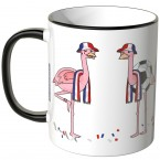 JUNIWORDS Tasse Frankreich Flamingo-Fans
