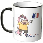 JUNIWORDS Tasse Frankreich Einhorn-Fans