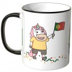 JUNIWORDS Tasse Portugal Einhorn-Fans
