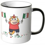 JUNIWORDS Tasse Italien Einhorn-Flagge