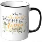 JUNIWORDS Tasse Nur die allerbesten Mamis werden zur Oma befördert - Motiv 12