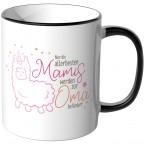 JUNIWORDS Tasse Nur die allerbesten Mamis werden zur Oma befördert - Motiv 14