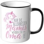 JUNIWORDS Tasse Nur die allerbesten Mamis werden zur Oma befördert - Motiv 19