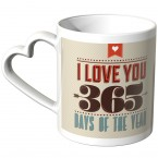 JUNIWORDS Herz Tasse I love you 365 days of the year