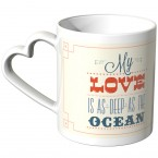 JUNIWORDS Herz Tasse My love is as deep as the ocean