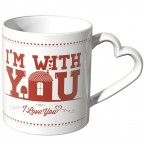 JUNIWORDS Herz Tasse Home is wherever I'm with you