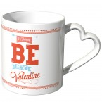 JUNIWORDS Herz Tasse Be my valentine - Just you & me
