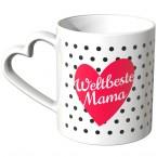 JUNIWORDS Herz Tasse Weltbeste Mama