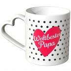 JUNIWORDS Herz Tasse Weltbester Papa