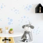 Wandsticker Set XL - Pastell Punkte Blau