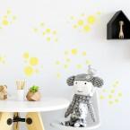 Wandsticker Set XL - Pastell Punkte Gelb