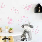 Wandsticker Set XL - Pastell Punkte Rosa