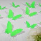Wandtattoo 3D - Schmetterlinge neon grün