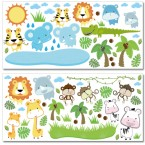 Wandsticker Mega Set - Baby Safari Tiere