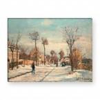 Camille Pissarro - Staße von Louveciennes im Schnee