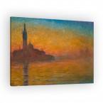 Venedig bei Sonnenuntergang von Claude Monet als Leinwandbild
