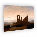 Der Junotempel in Agrigentauf Leinwand