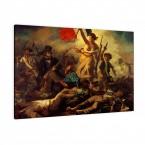 die Freiheit für das Volk von Eugéne Delacroix als Leinwandbild
