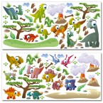Wandsticker Mega Set - Dinosaurier
