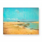 Strand bei Ebbe von Edgar Degas als Leinwandbild
