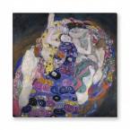 die Jungfrau von Gustav Klimt als Leinwandbild
