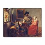 Das Glas Wein Gemälde