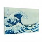 die große Welle von Katsushika Hokusai als Leinwandbild