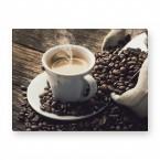 Leinwandbild - Kaffe Pause - Käffchen
