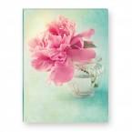 Leinwandbild - Flower - Pink peony - serenity
