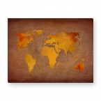 Leinwandbild - Worldmap - World map - Weltkarte - Welt - Globus -