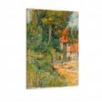 Leinwandbild Paul Gauguin Bauernhaus in der Normandie