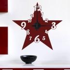 Wandtattoo Uhr - großer Stern