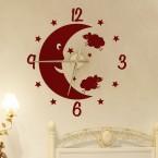 Wandtattoo Uhr Gute Nacht Mond