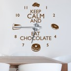 Wandtattoo Uhr  - Keep calm and eat chocolate