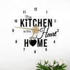 Wandtattoo Uhr - The kitchen is the heart of the home