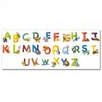 Wandsticker Set XL - lustiges Tier ABC