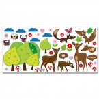 Wandsticker Set XL - Waldtiere