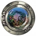 """Wandsticker Bullauge """"Korallen Vielfalt unter Wasser"""""""