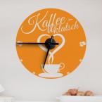 Wandtattoo Uhr - Kaffeeklatsch