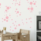 Wandsticker Set Mega - Pastell Punkte Rot